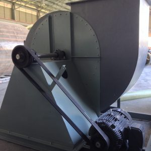 Upward blast FRP centrifugal fan