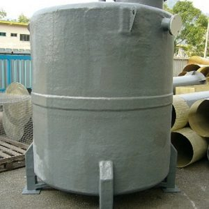 A chemical tank made of CPVC reinforced with FRP