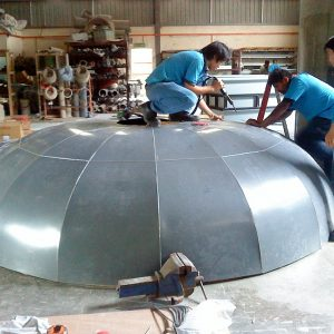 A dome made of CPVC reinforced with FRP