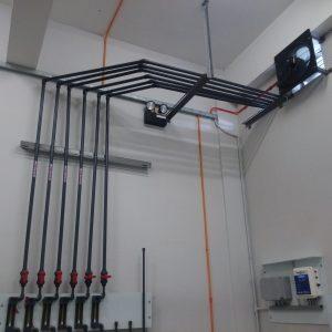 Chlorine gas feed pipe