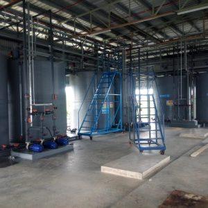 Chlorine water recirculation system