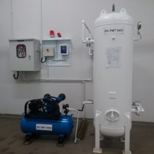 Compressed air for chlorine drum emergency shut-off system