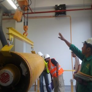 DOSH inspection on lifting of chlorine drum