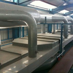 Online chlorination system for glove dipping line with tank cover and exhaust duct