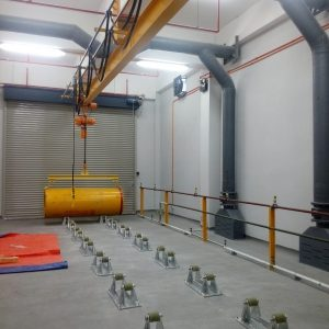 Suction hood is installed in chlorine room