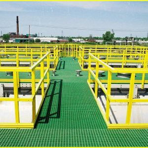 FRP grating installed in wastewater treatment plant