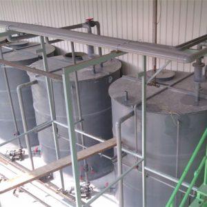 Chlorine water recirculation tank