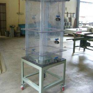 PVC transparent tank for laboratory