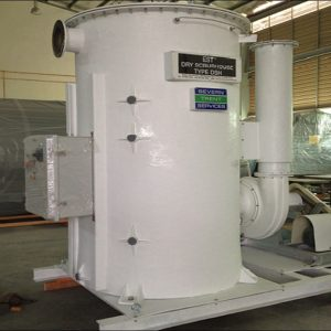 Dry scrubber made of fiberglass